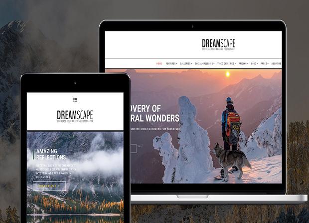 photography dreamscape theme wordpress