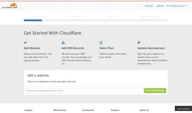 CloudFlare Setting up