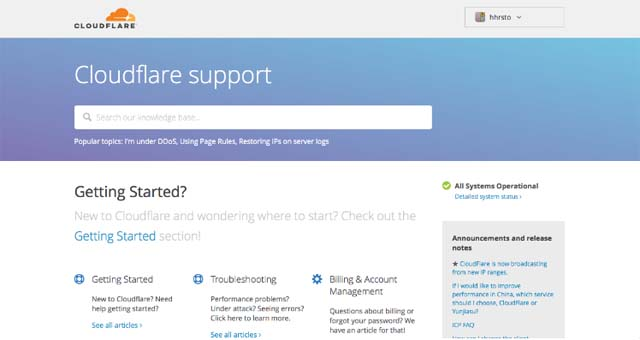 CloudFlare Support