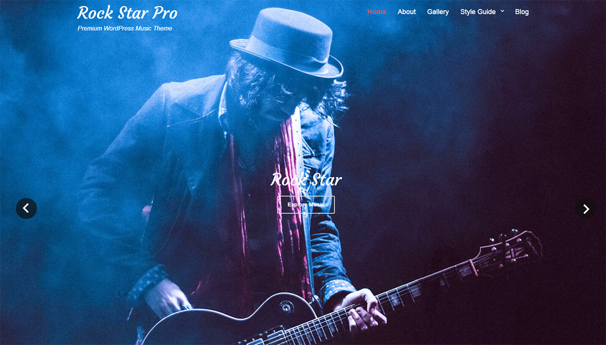 Rock Star PRO theme for WordPress
