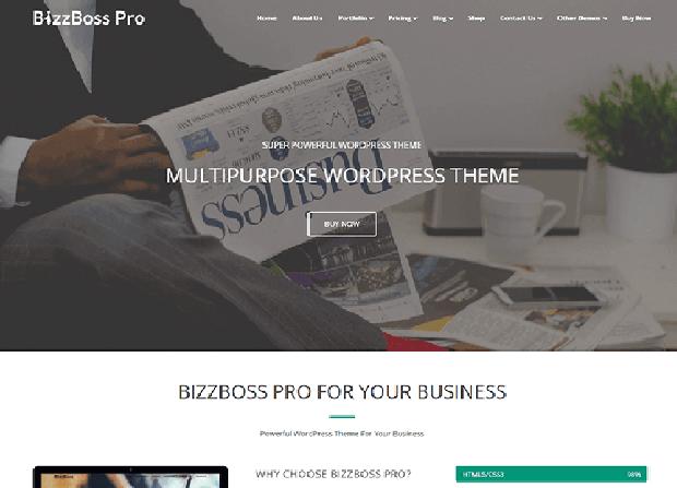 BizzBoss Pro Theme Screenshot