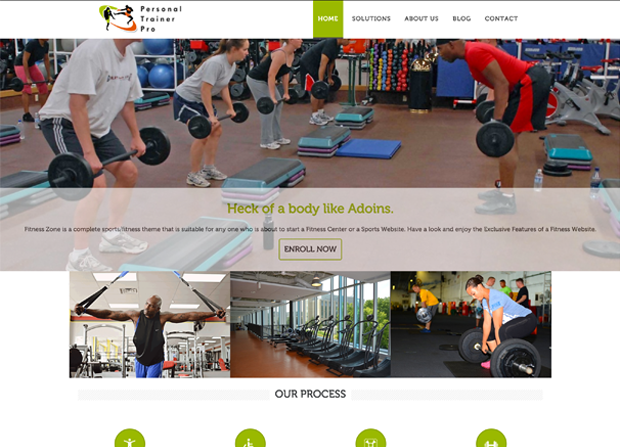 Personal Trainer Pro Theme Screenshot