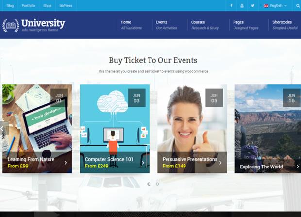 University Theme Screenshot