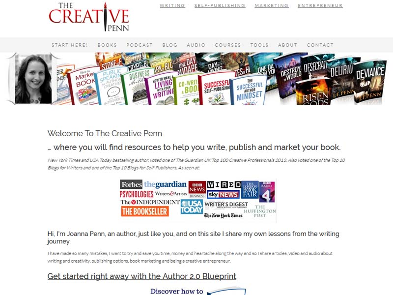 The Creative Penn - Website Screenshot