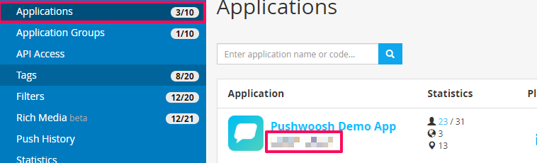 Pushwoosh API