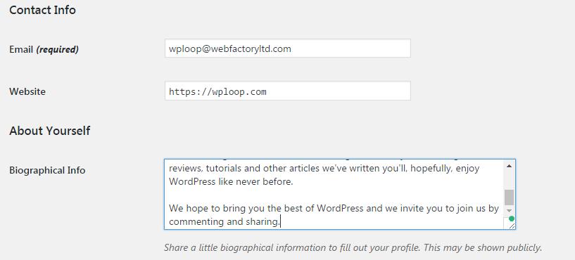 Edit user profiles