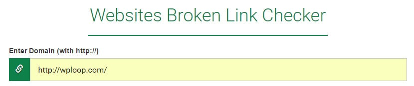 Websites Broken Link Checker