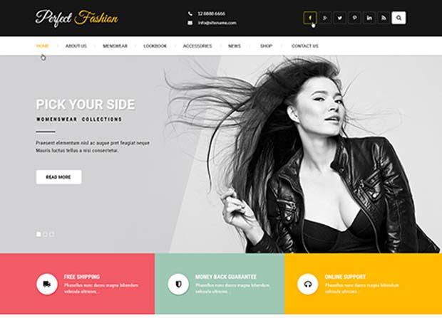 Fashion Trends Theme Screenshot