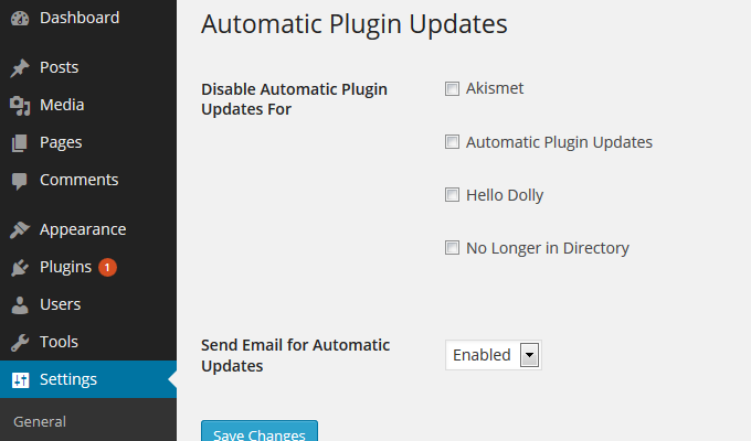 Automatic Plugin Updates