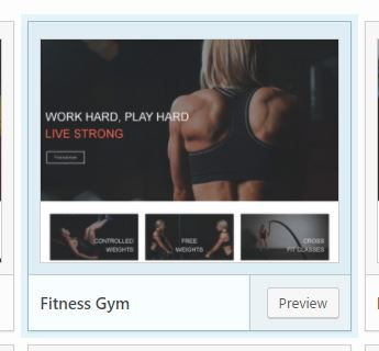 Fitness gym preset