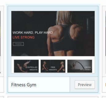 Fitness gym preset