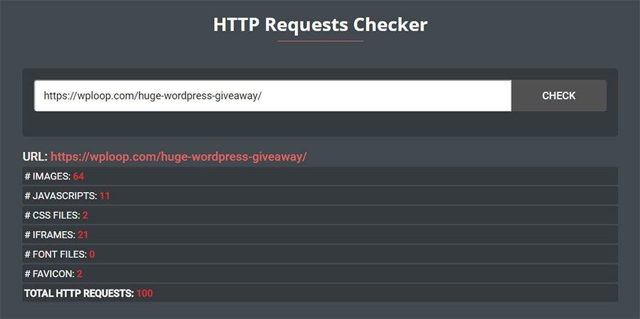 HTTP requests Checker