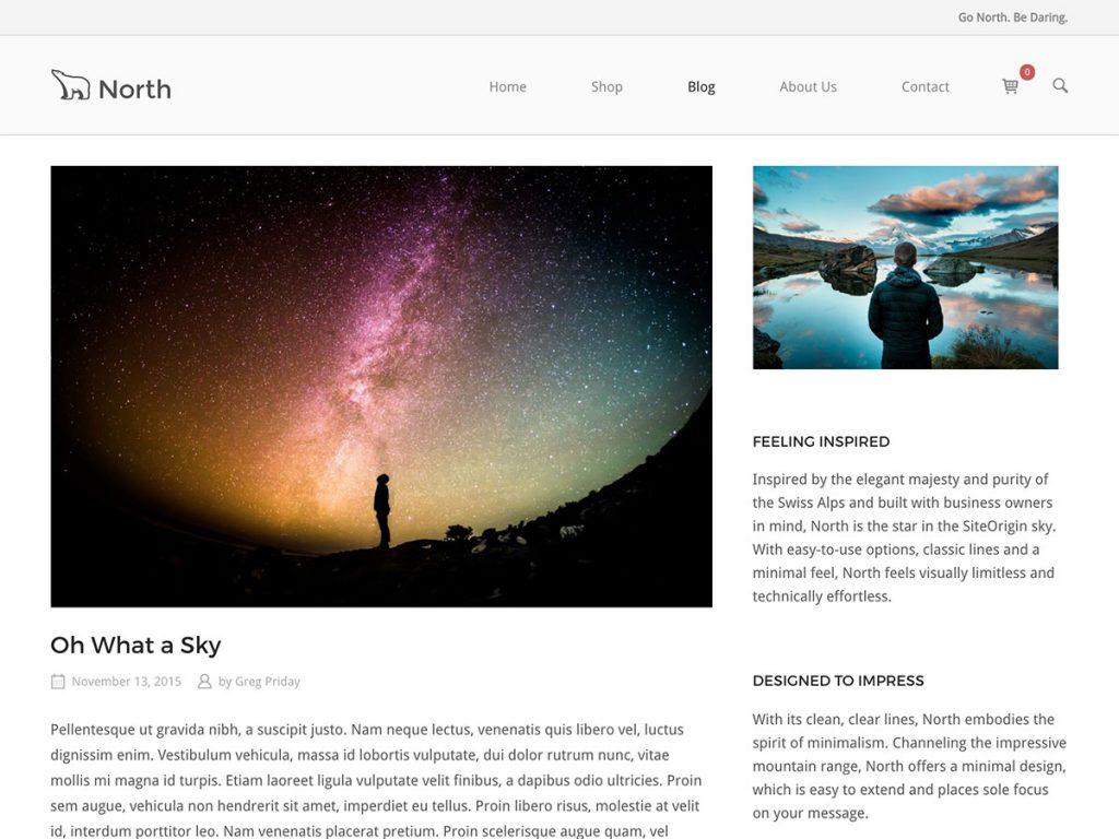 SiteOrigin North WordPress theme
