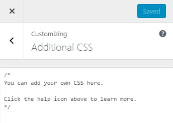 Additional CSS in WordPress