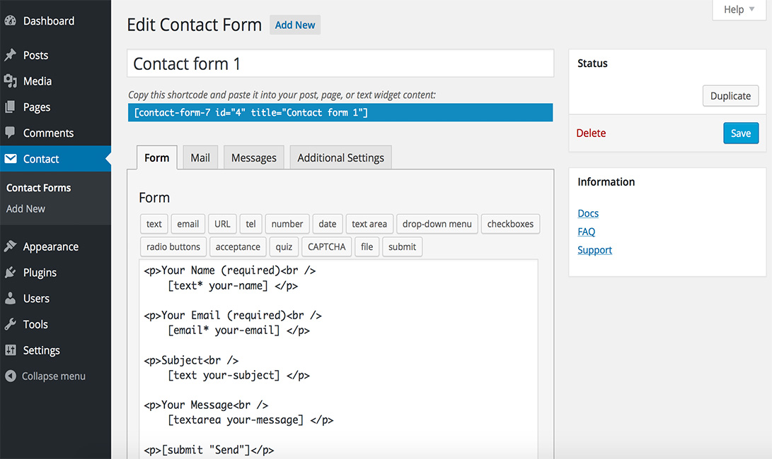 Top 10 Contact Form Plugins For Wordpress