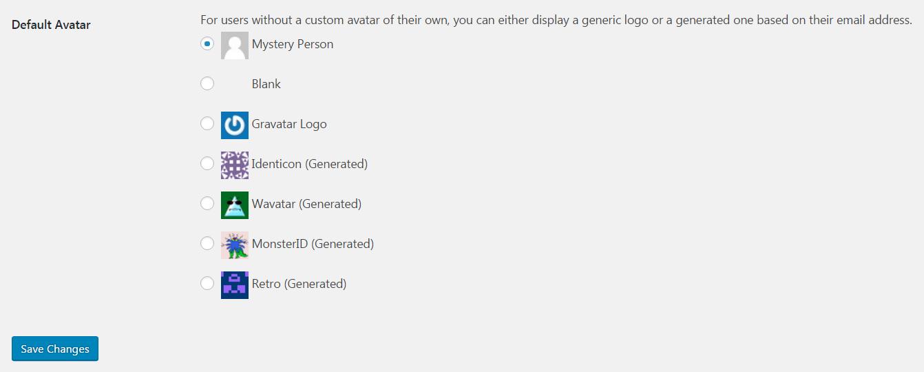 WordPress avatars