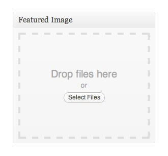 Drag and Drop featured image in WordPress