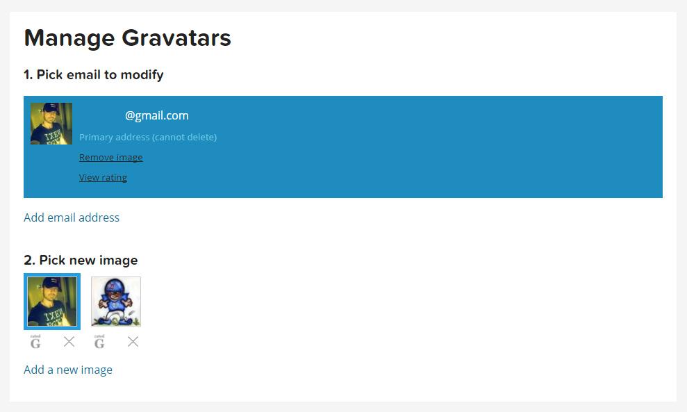 Manage Gravatars