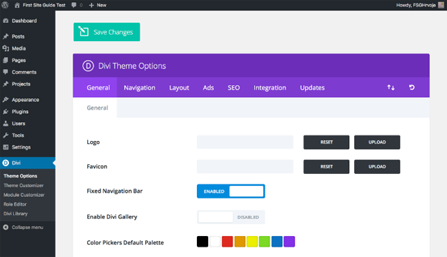 Elegant Themes User Panel 1