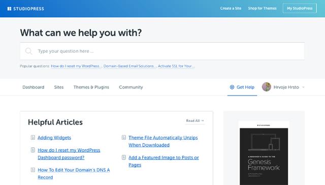 StudioPress Support