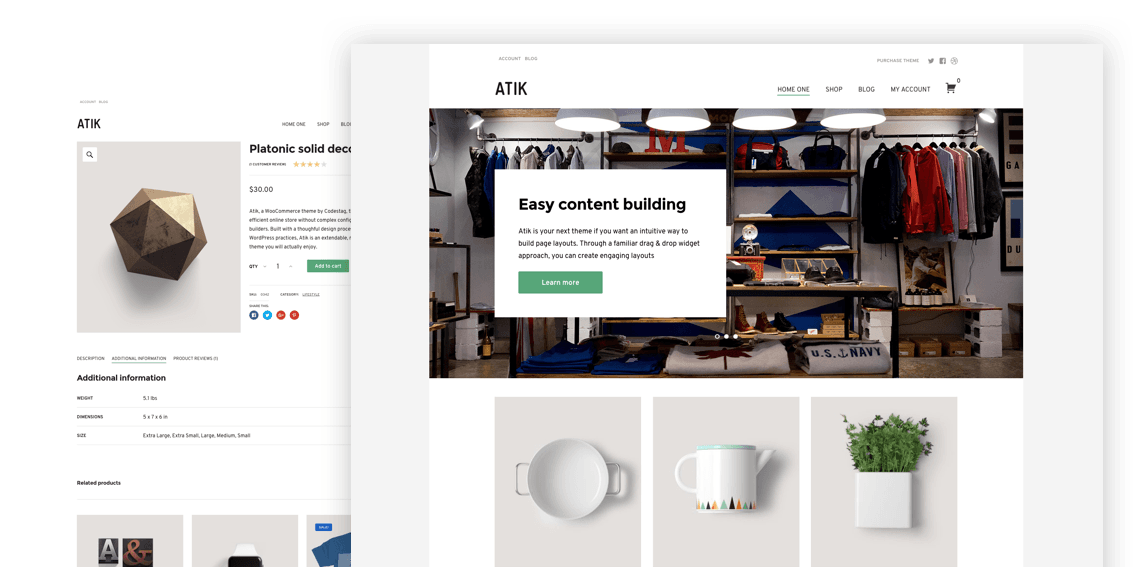 Atik WordPress theme