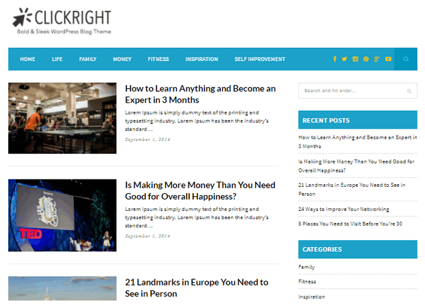 Clickright Theme