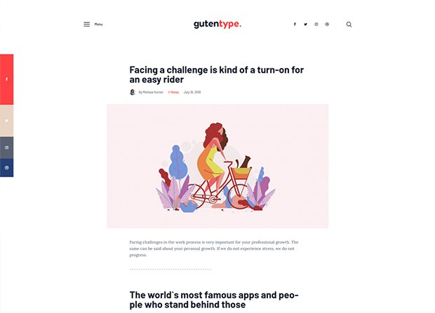 Gutentype WordPress Theme Screenshot