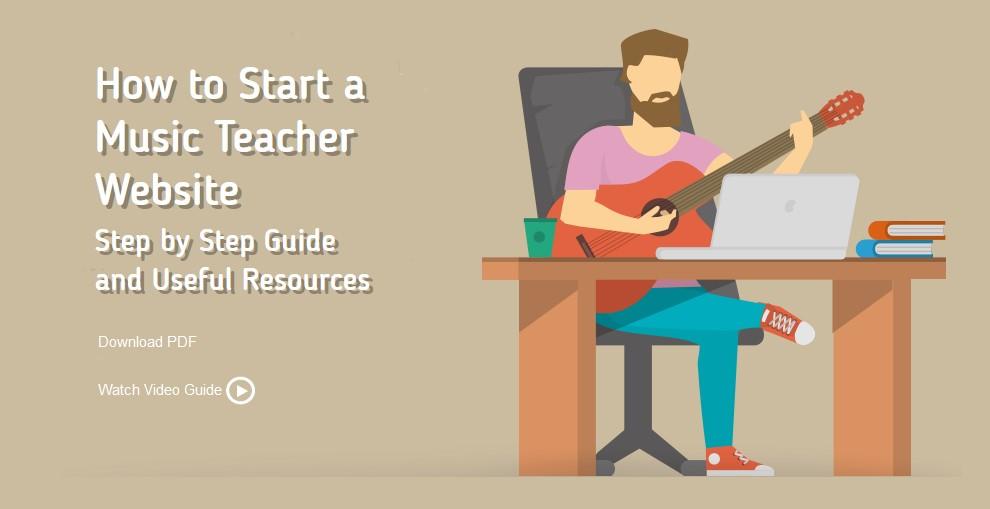 How to Start a Music Teacher Website   FirstSiteGuide   Free