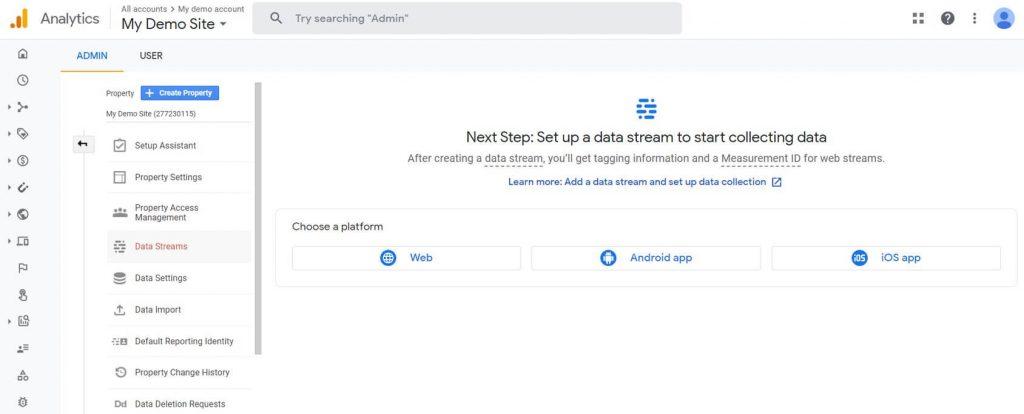 set up data stream