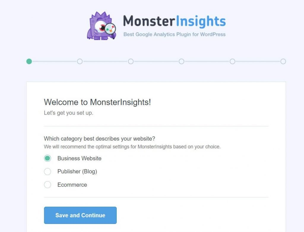 welcome to monsterInsights plugin