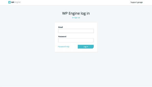WP Engine login page