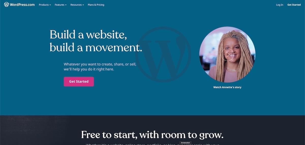 wp.com home page