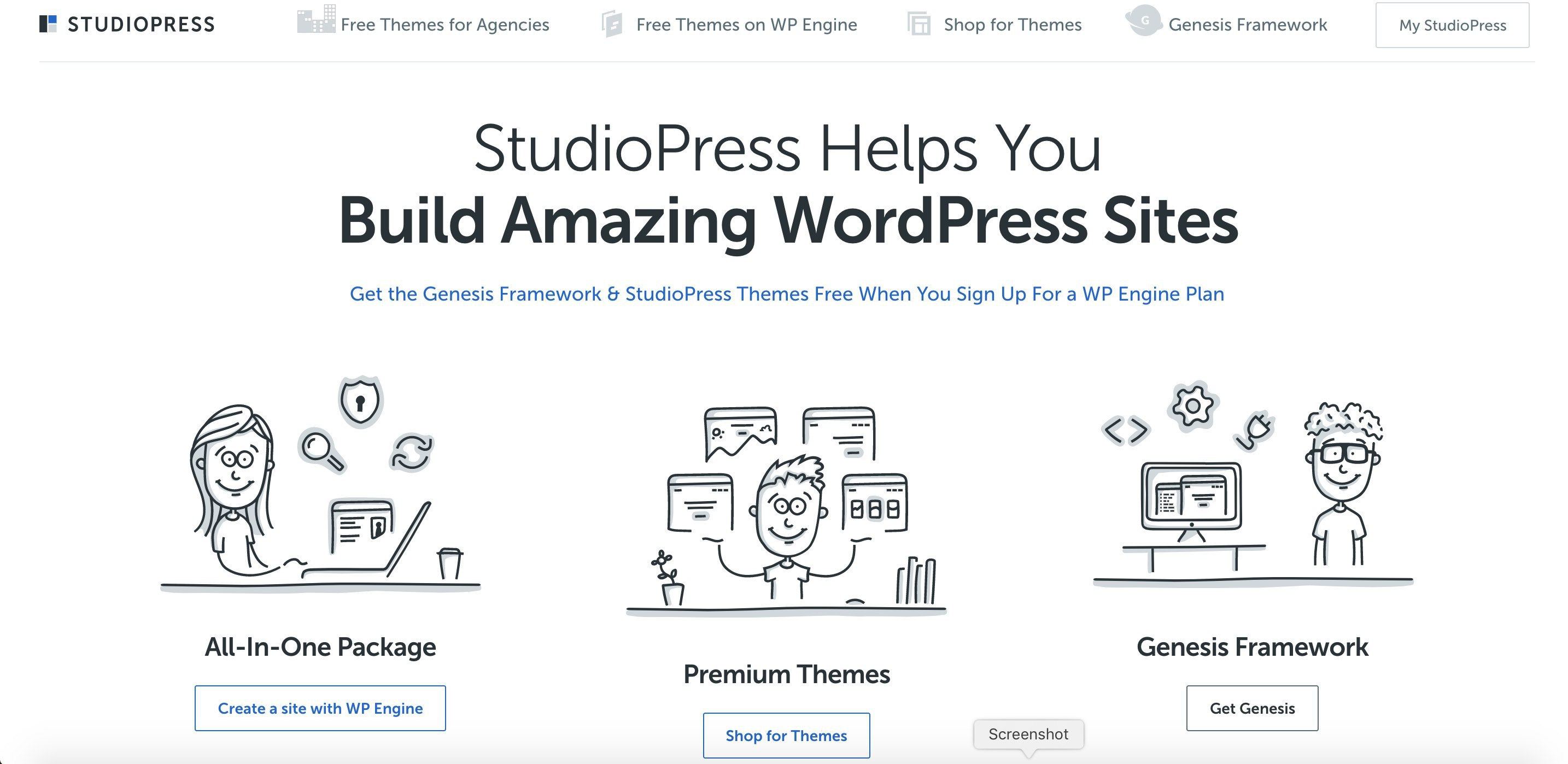 StudioPress home page