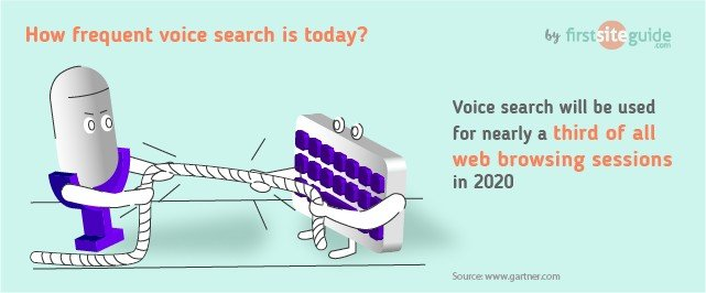 How frequent is voice search