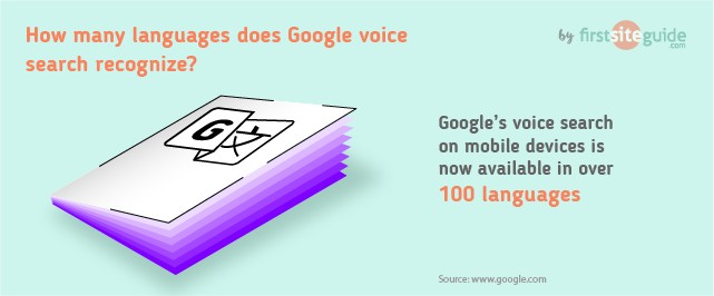 How many languages does Google voice search recognize