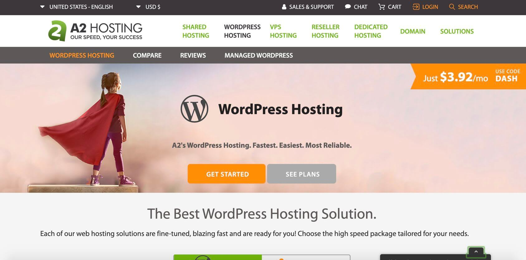 A2 Hosting WordPress