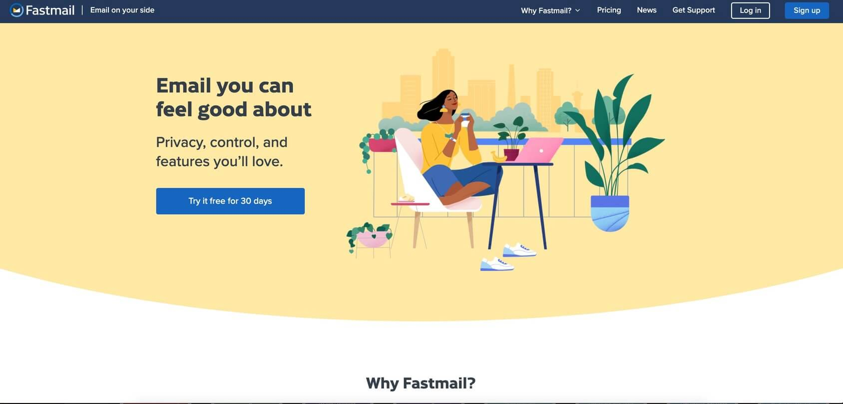 Fastmail homepage