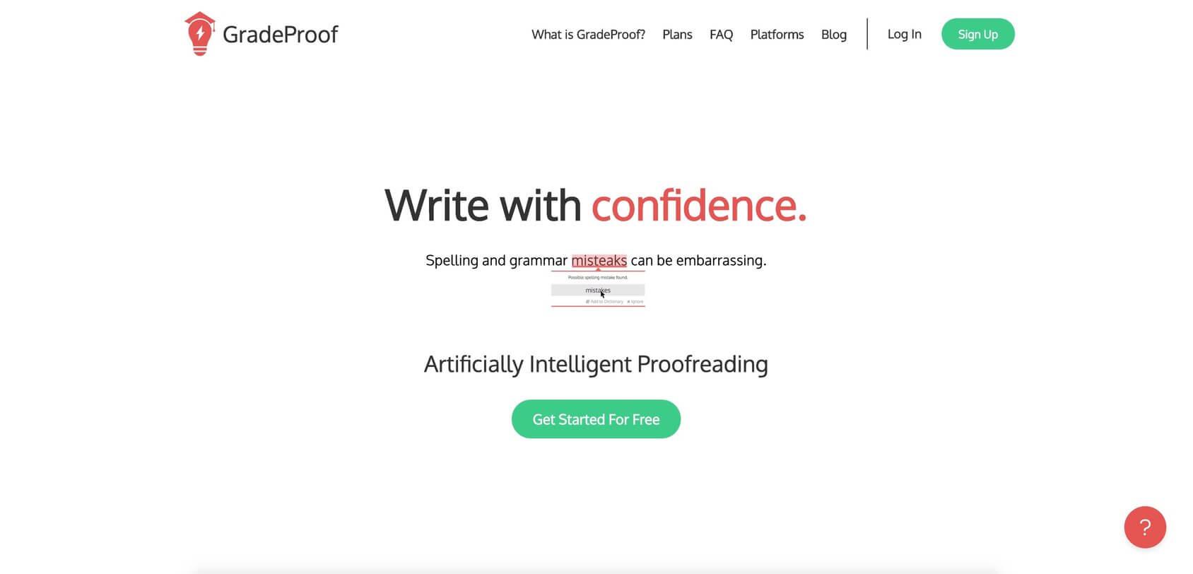 GradeProof tool homepage