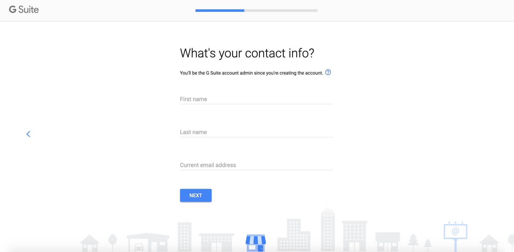 gsuite contact info
