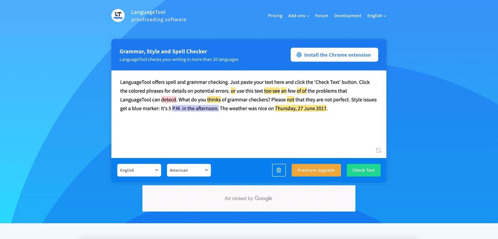 language tool homepage