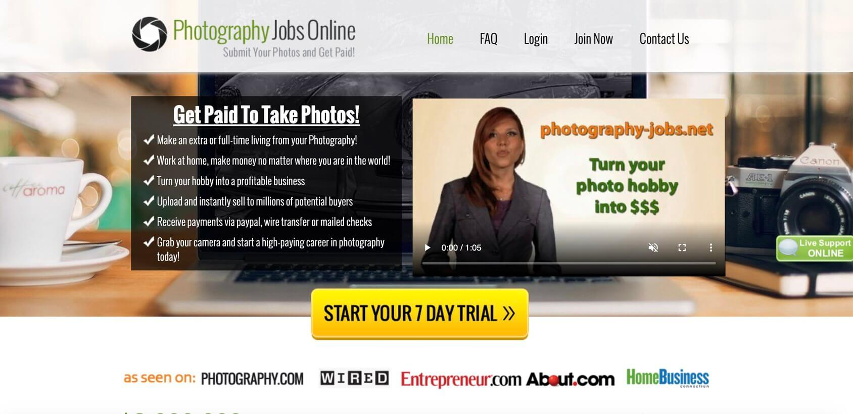Photography Jobs Online