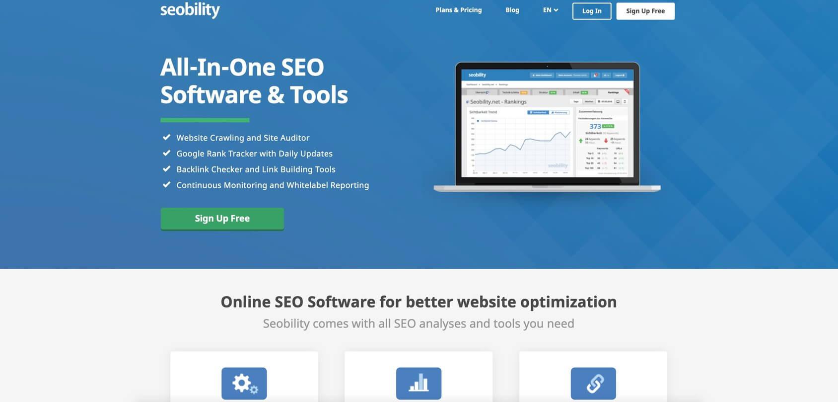 Seobility homepage