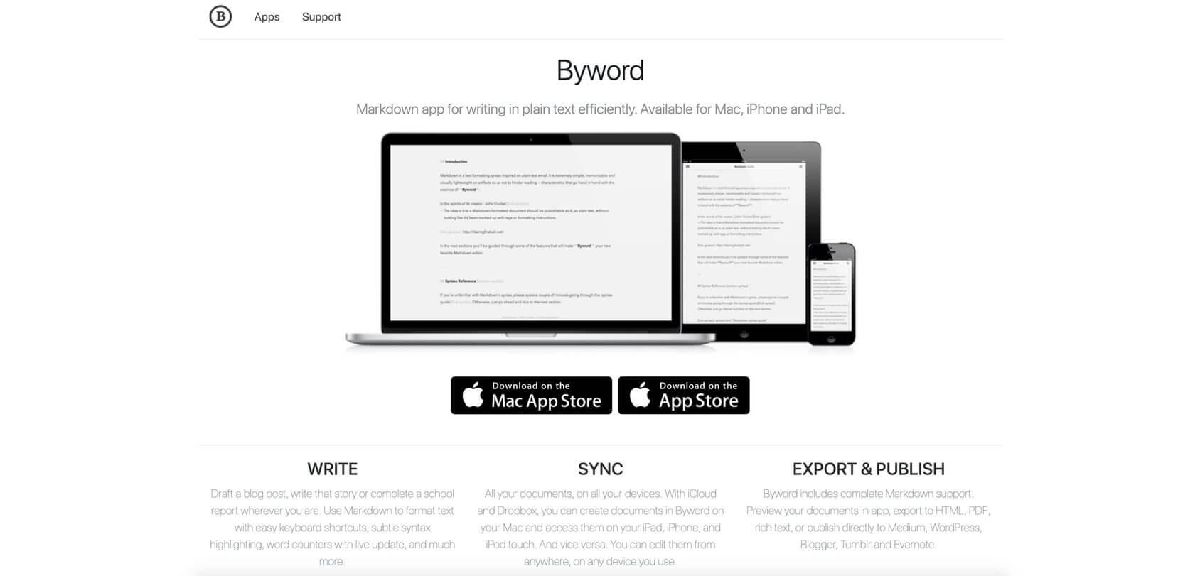 Byword homepage