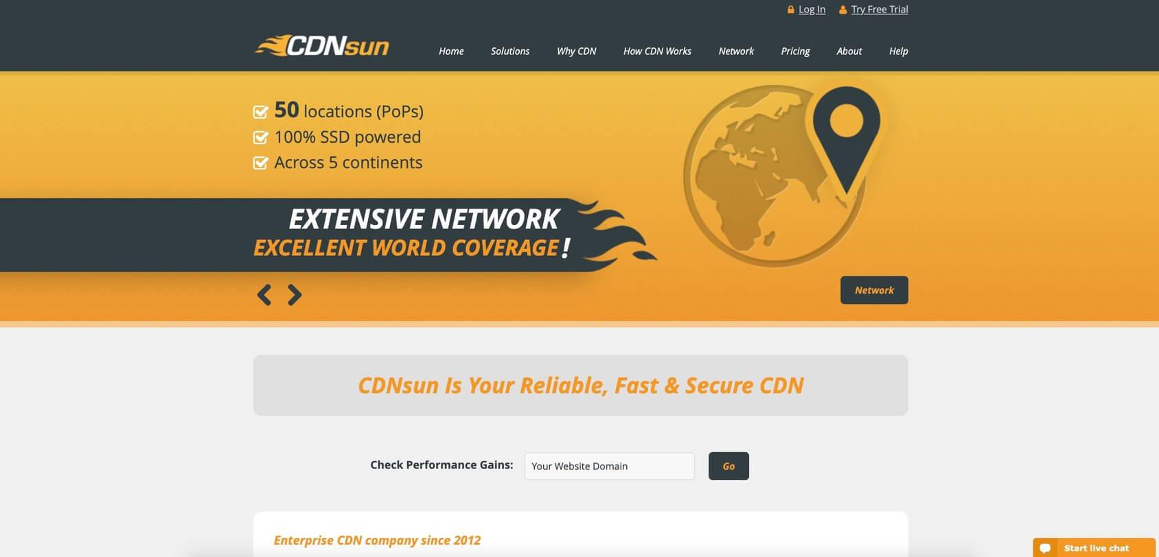 CDNsun homepage
