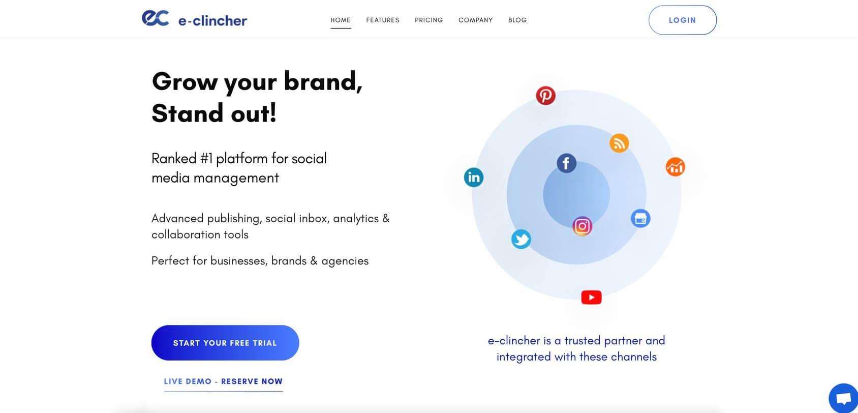 eClincher homepage