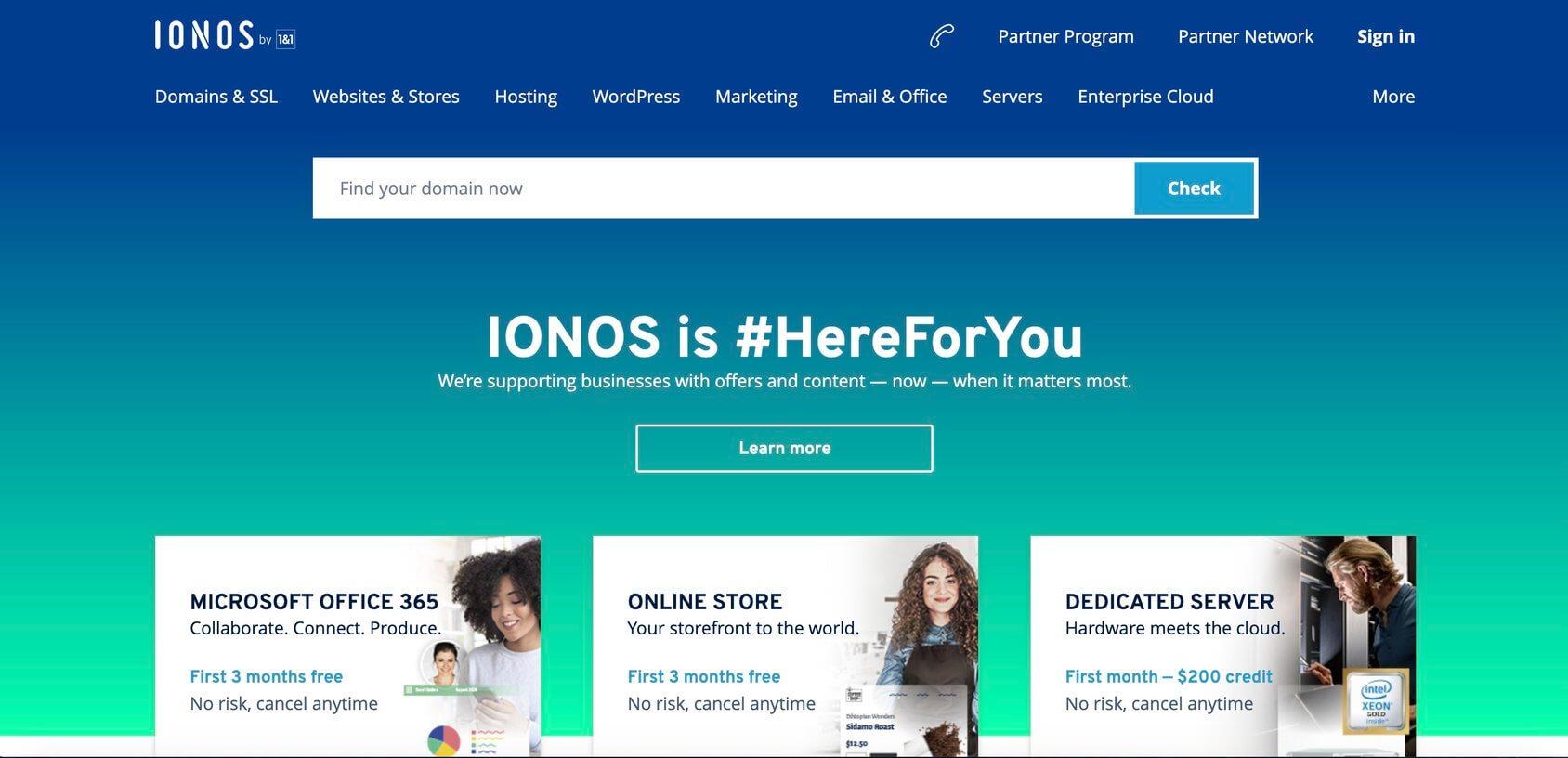 IONOS homepage