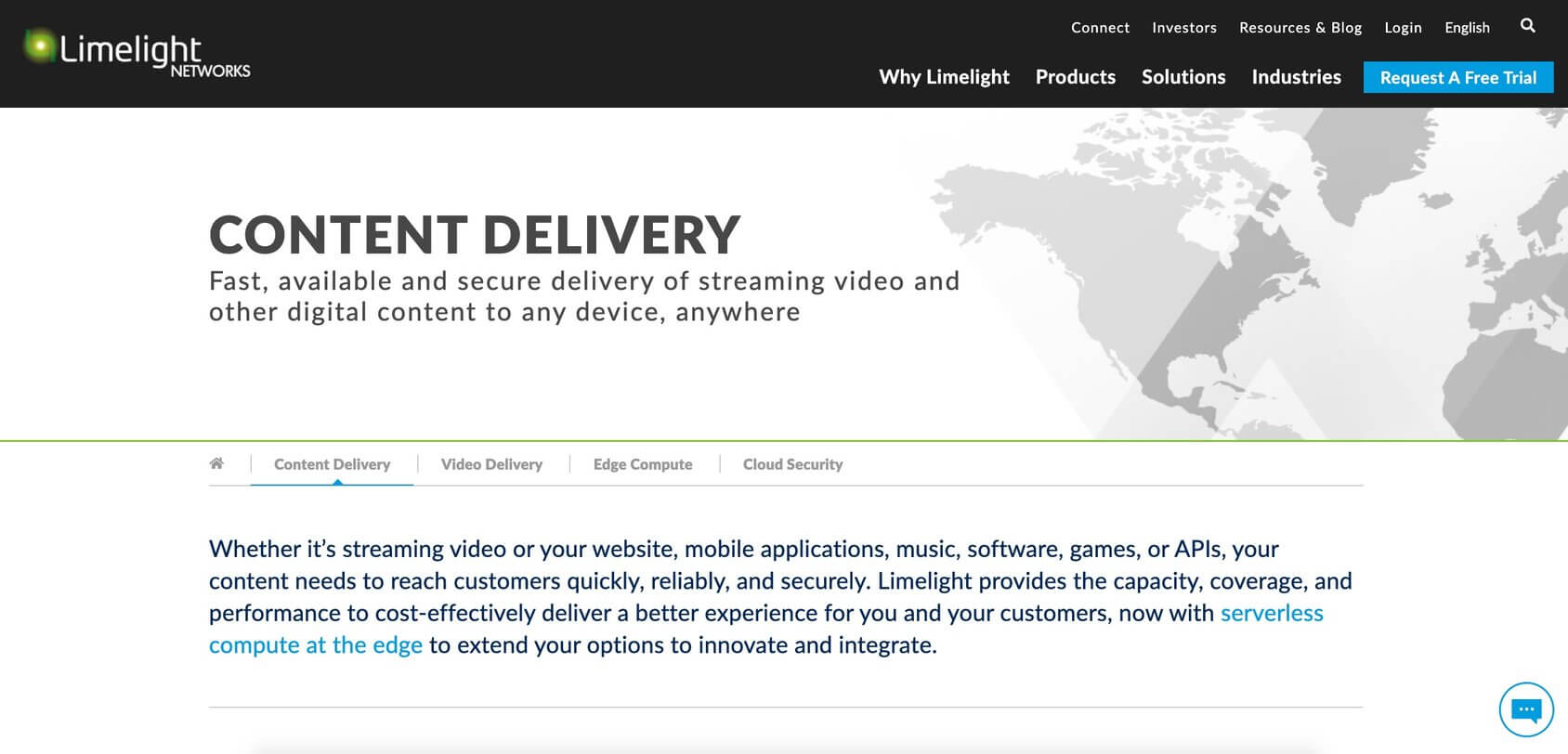 Limelight homepage