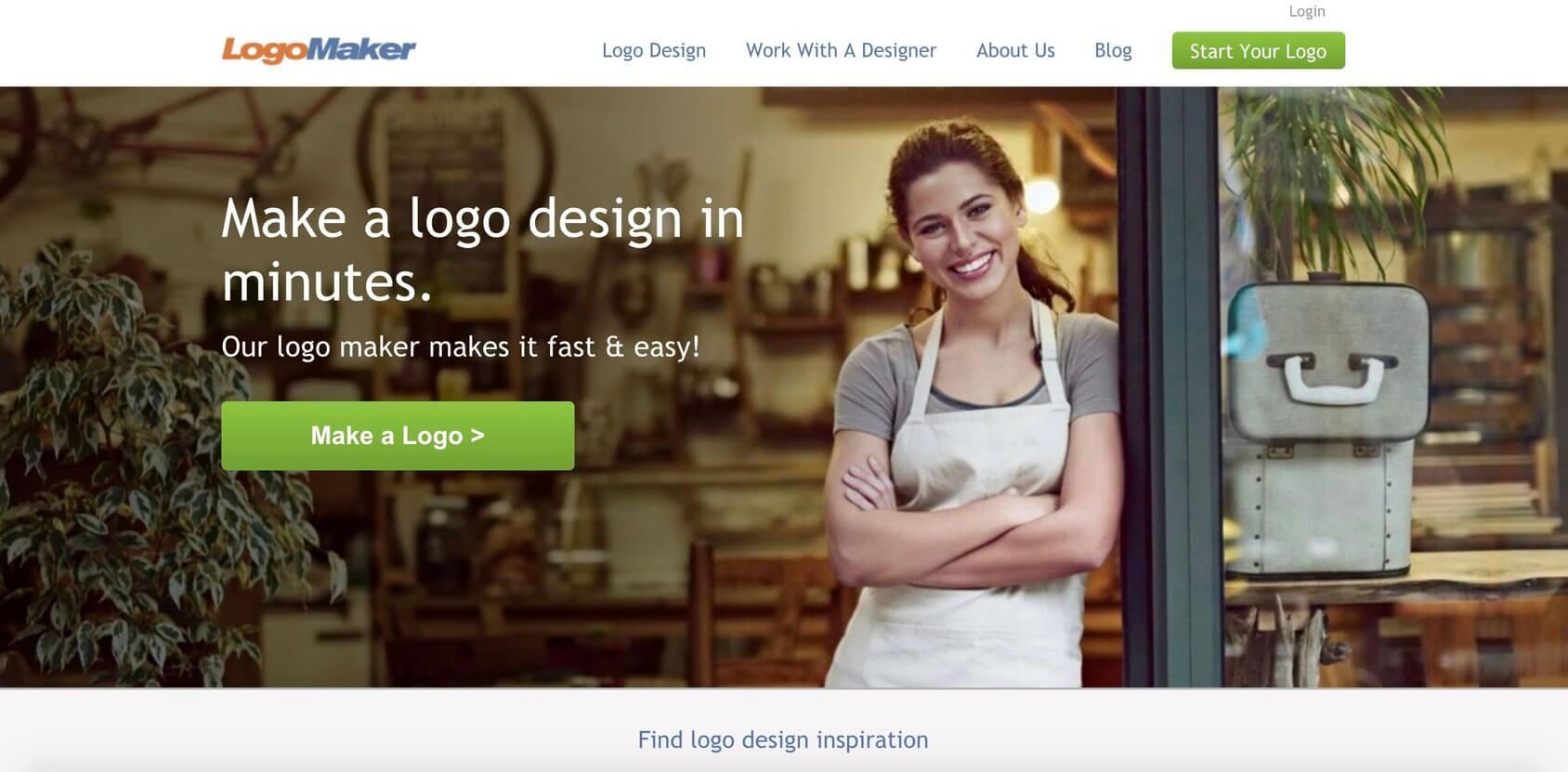 LogoMaker homepage