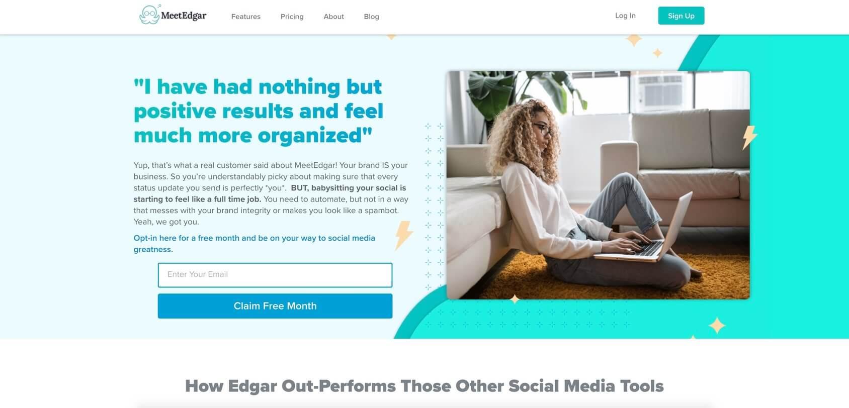 MeetEdgar homepage