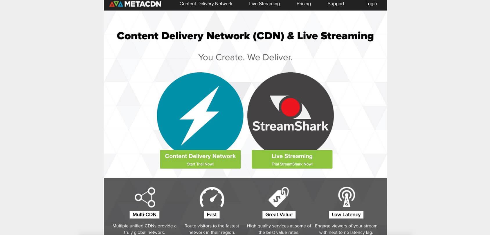 MetaCDN homepage